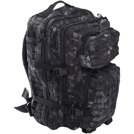 Mil-Tec US Assault Pack Laser Cut Large Einsatzrucksack Mandra Night