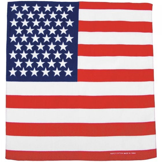 MFH Bandana aus Baumwolle US-Flagge