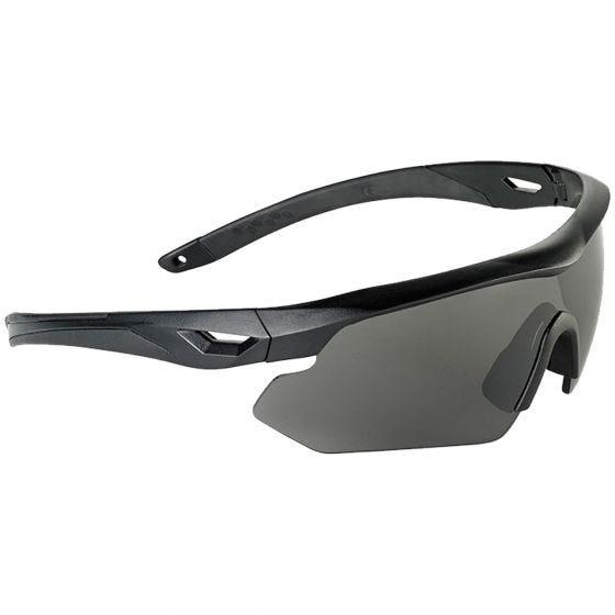 Swiss Eye Nighthawk Sonnenbrille mit Gläsern in Smoke + Orange + Klar / Gummigestell in Schwarz