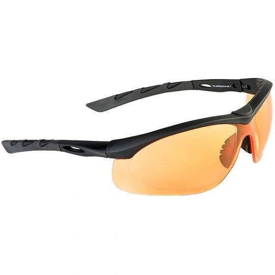 Swiss Eye Lancer Sonnenbrille mit Gläsern in Orange / Gummigestell in Schwarz