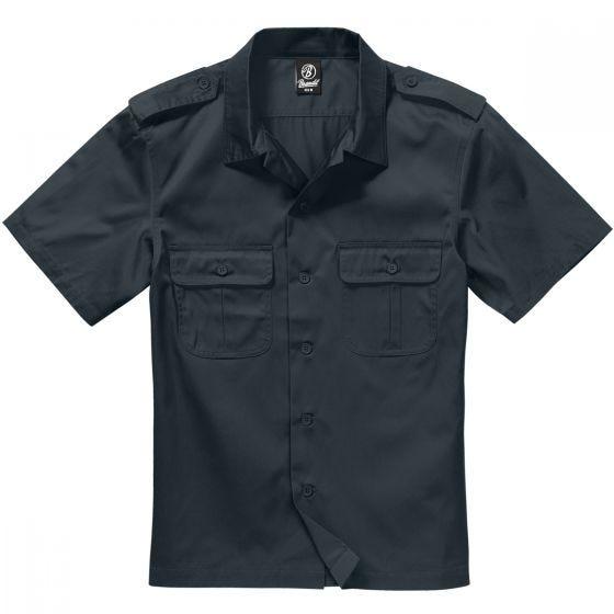 Brandit US Kurzärmliges Hemd Schwarz