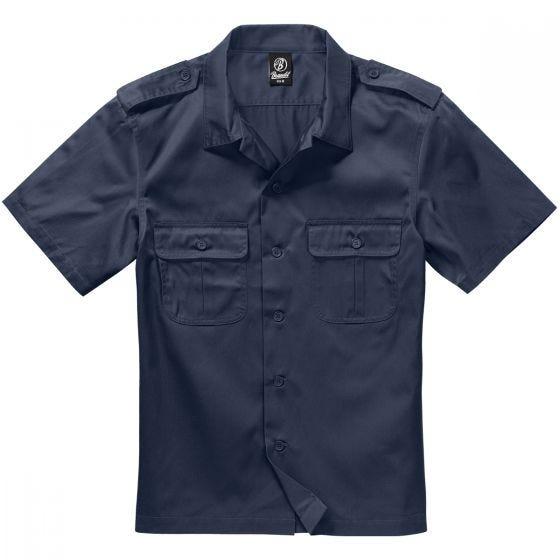 Brandit US Kurzärmliges Hemd Navy