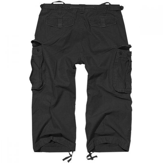 Brandit Industry Vintage Shorts mit 3/4-Bein Schwarz