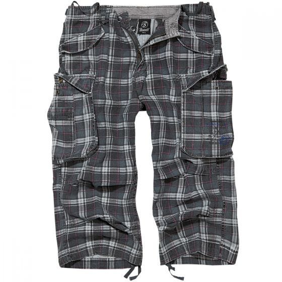 Brandit Industry Vintage Shorts mit 3/4-Bein Dunkelgrau/Violett