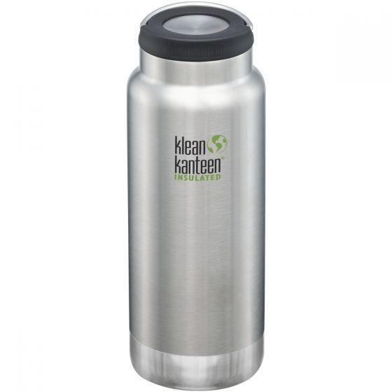 Klean Kanteen TKWide 946 ml Isolierte Trinkflasche mit Loop Cap Brushed Stainless