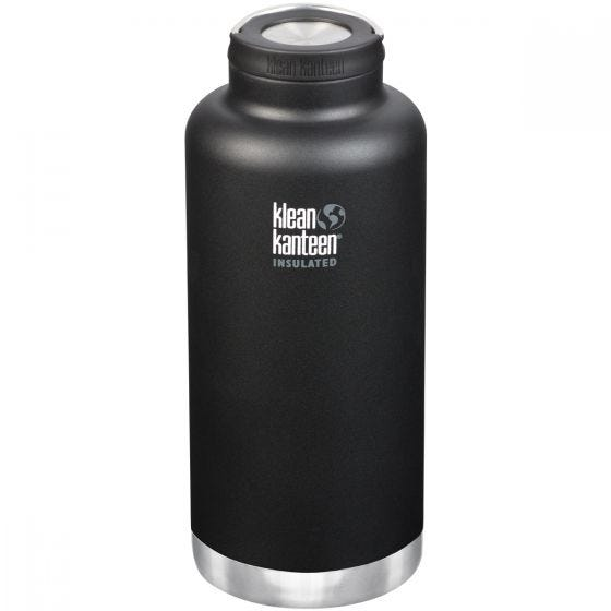 Klean Kanteen TKWide 1900 ml Isolierte Trinkflasche mit Loop Cap Shale Black