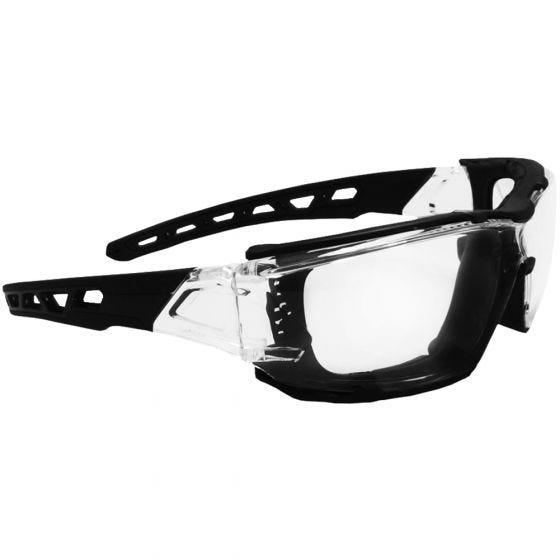 Swiss Eye Net Sonnenbrille mit Gestell in Schwarz-Transparent / Gläser in Klar