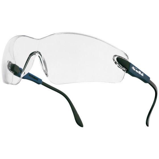 Bolle Viper II Schutzbrille - klare Gläser / stahlblaues Gestell