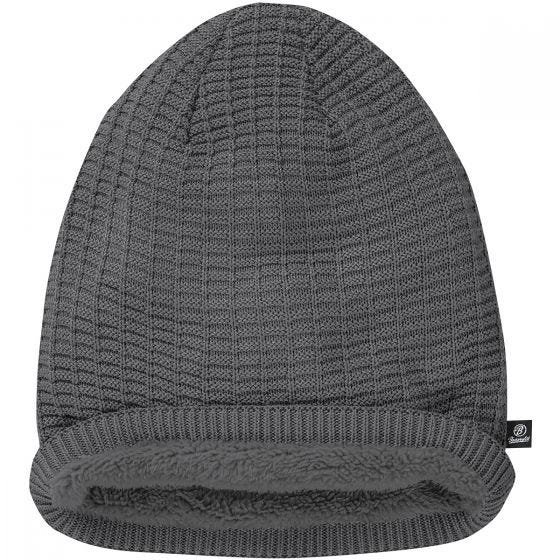 Brandit John Beanie-Mütze mit Ajour-Strick Anthracite Melange