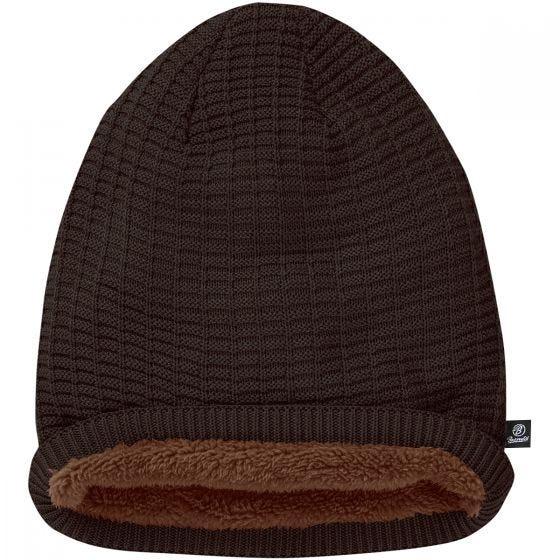 Brandit John Beanie-Mütze mit Ajour-Strick Chocolate