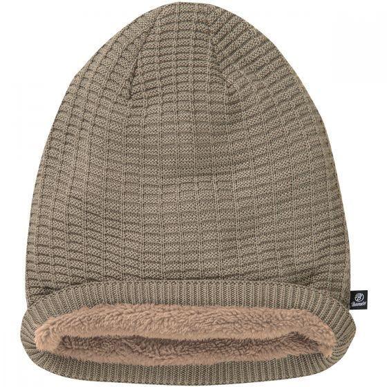 Brandit John Beanie-Mütze mit Ajour-Strick Taupe