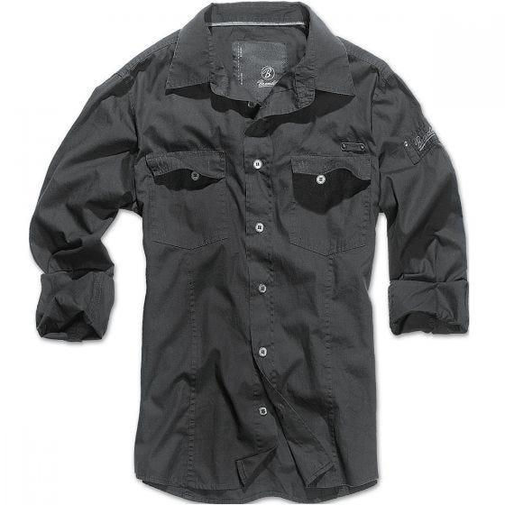 Brandit SlimFit Hemd Schwarz