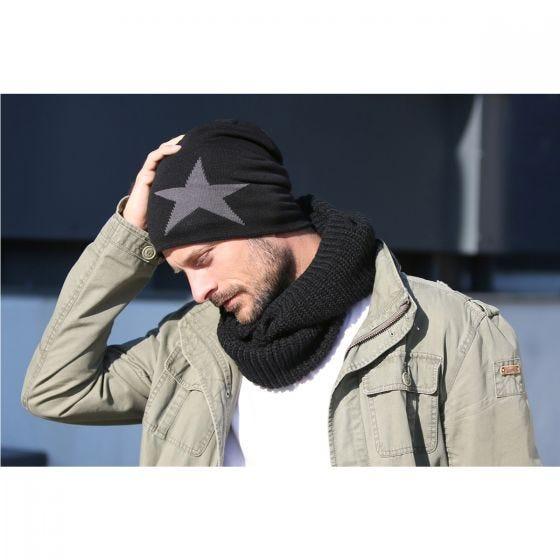 Brandit Star Cap Beanie-Mütze mit Stern Anthracite