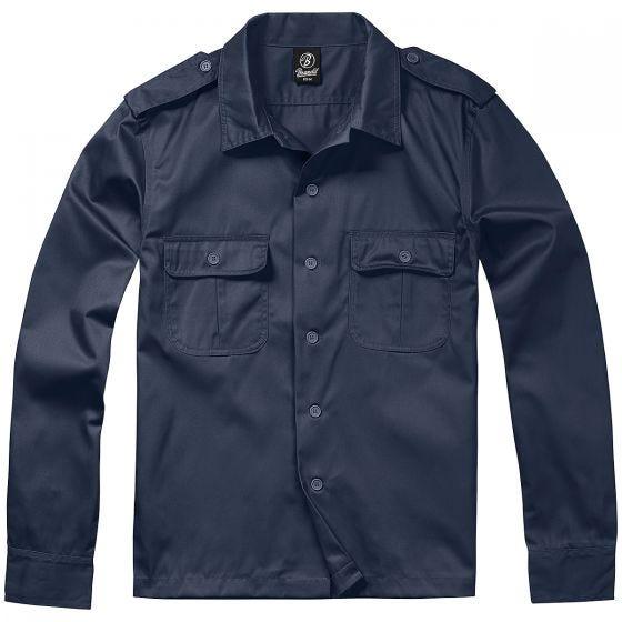 Brandit US Langärmliges Hemd Navy