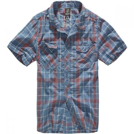 Brandit Roadstar Hemd Rot / Blau