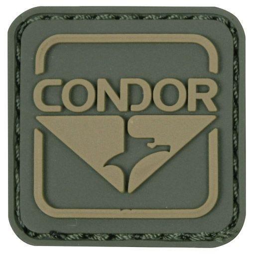 Condor PVC-Patch mit Logo Grün/Braun