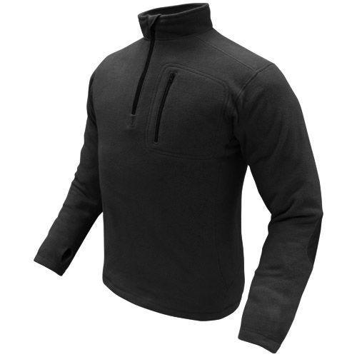Condor Fleece-Pullover mit 1/4-Reißverschluss Schwarz