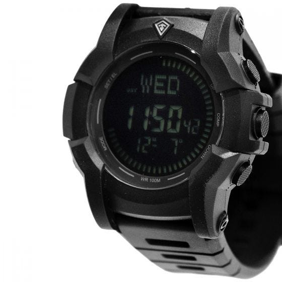 First Tactical Canyon Digitale Armbanduhr mit Kompassfunktion Schwarz