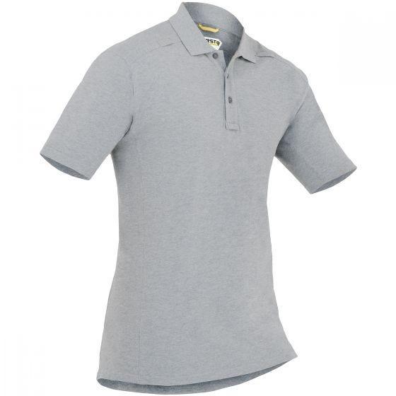 First Tactical Herren Kurzarm-Polohemd aus Baumwolle mit Stifttasche Heather Grey