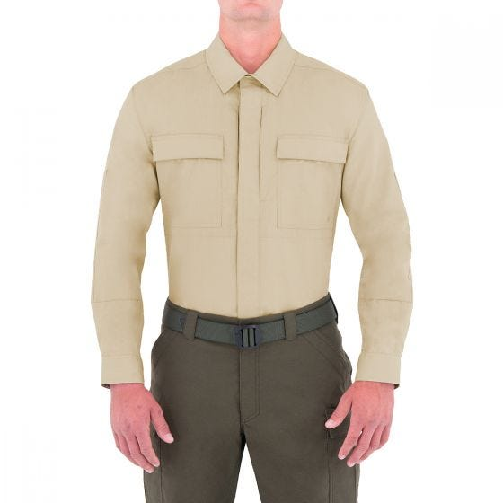 First Tactical Specialist Herren BDU-Hemd langärmelig Khakifarben