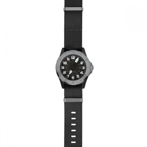 First Tactical Ridgeline Armbanduhr aus Carbon & gebürstetem Edelstahl Schwarz