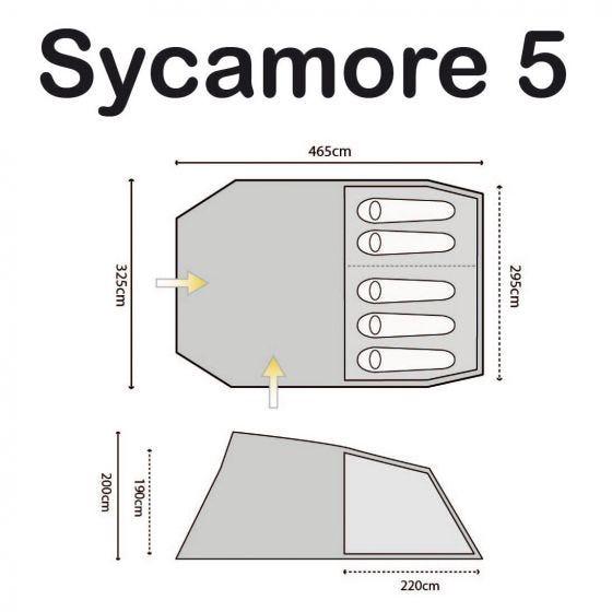Highlander Sycamore 5-Personen-Zelt Meadow / Spring Green