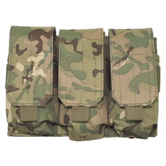 MFH Dreifach-Magazintasche für M4/M16 mit MOLLE-Befestigungssystem Operation Camo