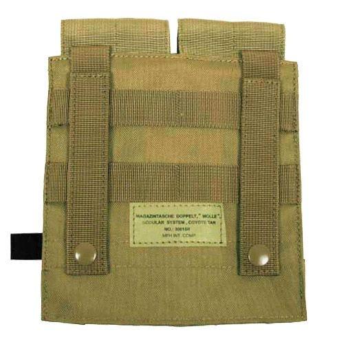 MFH M4/M16 Doppel-Magazintasche mit MOLLE-Befestigungssystem Coyote