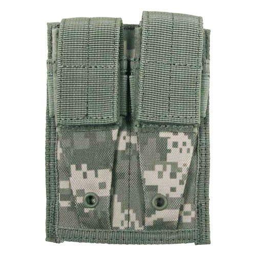 MFH 9mm Kleine Doppel-Magazintasche mit MOLLE-Befestigungssystem ACU Digital