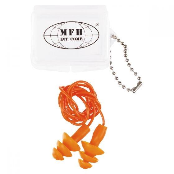 MFH Ohrenstöpsel mit Etui Orange