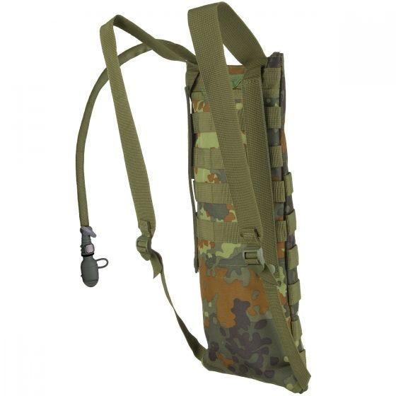 MFH Trinkblase und Tasche mit MOLLE-Befestigungssystem Flecktarn