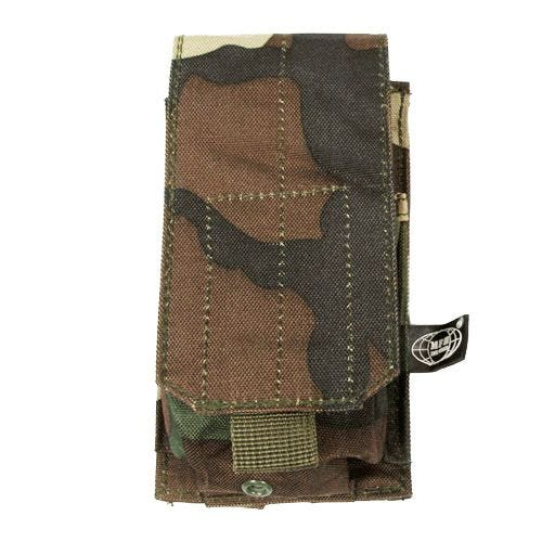 MFH Einzel-Magazintasche für M4/M16 mit MOLLE-Befestigungssystem Woodland