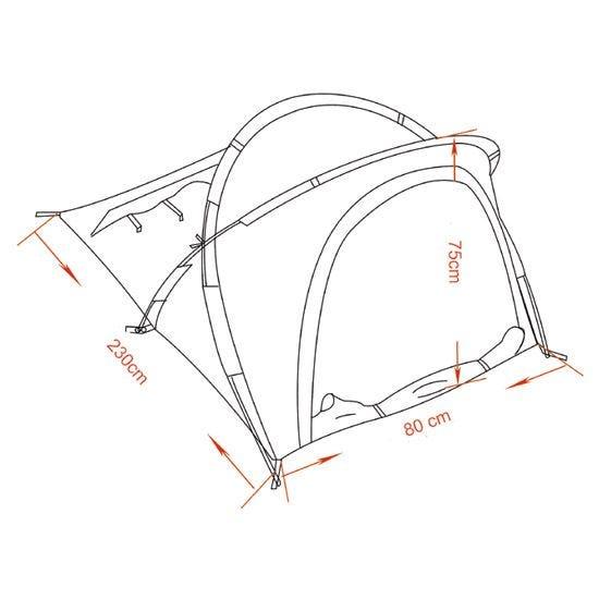MFH Osser Zelt mit Aluminium-Gestänge Flecktarn