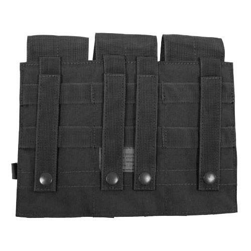 MFH Dreifach-Magazintasche für M4/M16 mit MOLLE-Befestigungssystem Schwarz