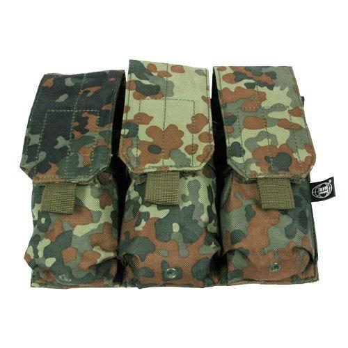 MFH Dreifach-Magazintasche für M4/M16 mit MOLLE-Befestigungssystem Flecktarn