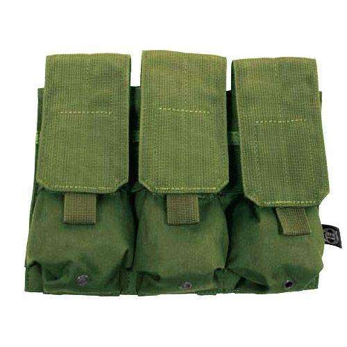 MFH Dreifach-Magazintasche für M4/M16 mit MOLLE-Befestigungssystem Oliv