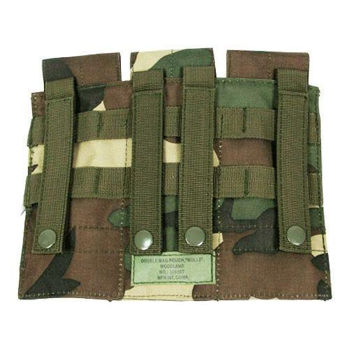 MFH Dreifach-Magazintasche für M4/M16 mit MOLLE-Befestigungssystem Woodland