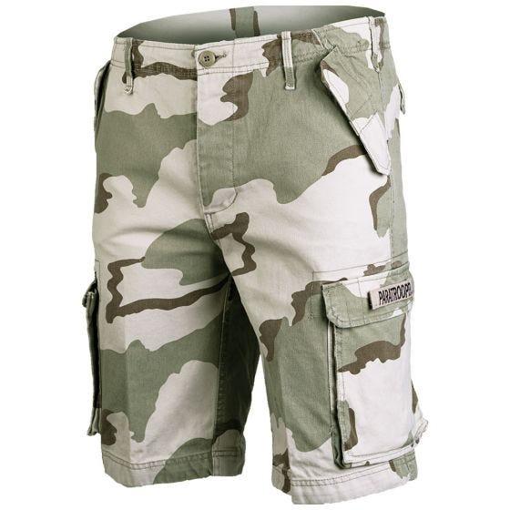 Mil-Tec Paratrooper Cargo-Shorts Prewashed Desert 3 Farben