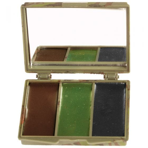 Mil-Tec Tarnschminke 3 Farben Etui mit Spiegel Woodland