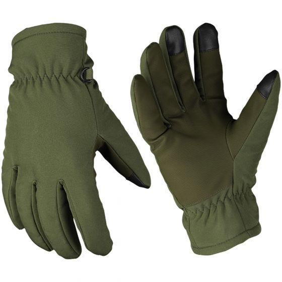Mil-Tec Softshell-Handschuhe mit Thinsulate Oliv