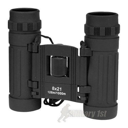 Mil-Tec 8x21 Klappbares Fernglas Schwarz