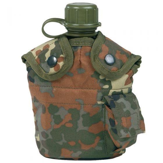 Mil-Tec US Feldflasche und Becher Flecktarn