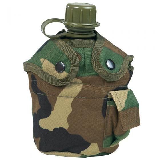 Mil-Tec US Feldflasche und Becher Woodland