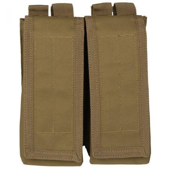 Mil-Tec AK47 Doppel-Magazintasche mit MOLLE-Befestigungssystem Coyote