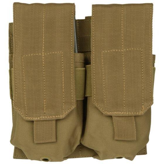 Mil-Tec M4/M16 Doppel-Magazintasche mit MOLLE-Befestigungssystem Coyote