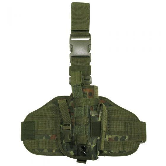 MFH Taktisches Beinholster MOLLE-Befestigungssystem Flecktarn