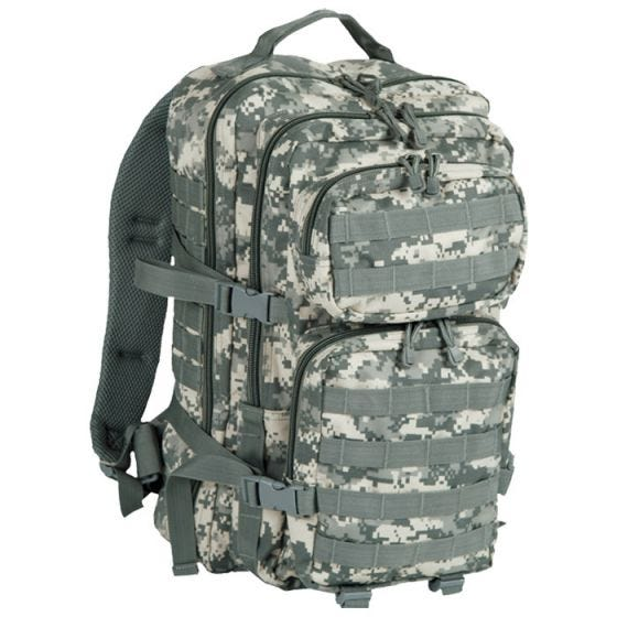 Mil-Tec US Assault Pack Large Einsatzrucksack mit MOLLE-Befestigungssystem ACU Digital