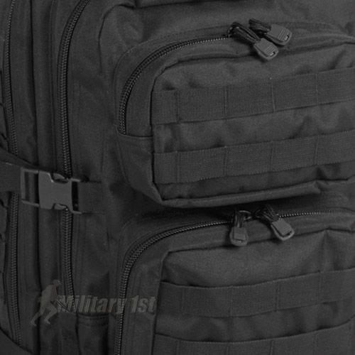 Mil-Tec US Assault Pack Large Einsatzrucksack mit MOLLE-Befestigungssystem Schwarz