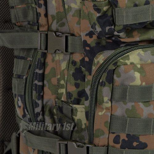 Mil-Tec US Assault Pack Large Einsatzrucksack mit MOLLE-Befestigungssystem Flecktarn
