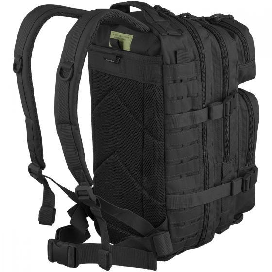 Mil-Tec US Assault Pack Laser Cut Small Einsatzrucksack Schwarz